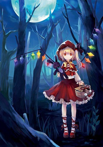 Flandre as lil red riding капот, худ