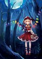 Flandre as lil red riding hood - flandre-scarlet fan art