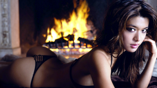 Grace Park wallpaper with a fire and a fire entitled Grace Park Maxim (new) 1920x1080