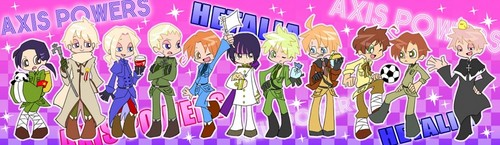 hetalia in the Panty and Stock art style!