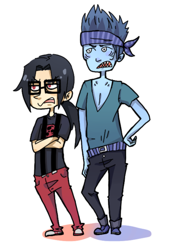 Hipster Itachi and Kisame