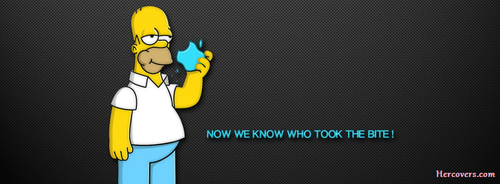 Homer simpson Facebook cover for Facebook timelineHERCOVERS.COM