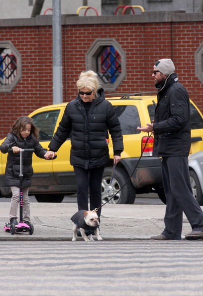 Hugh Jackman and Family Out for a Stroll