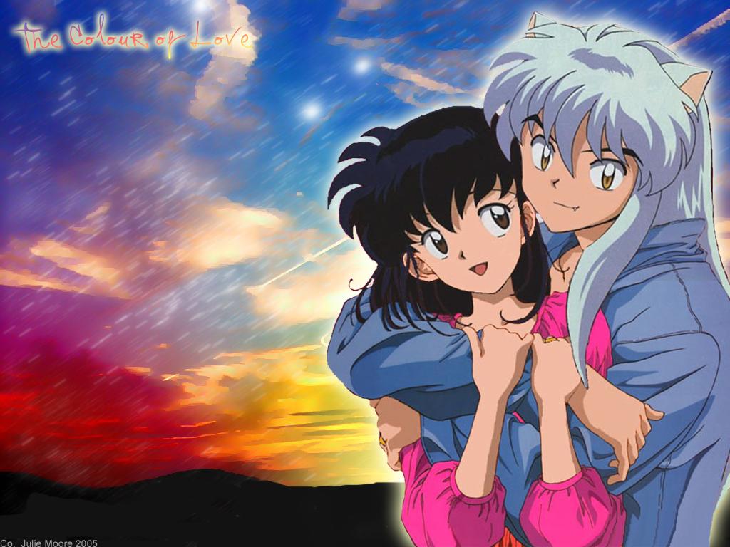 inuyasha kagome anime wallpaper 28631400 fanpop