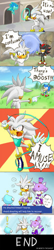 Silver the Hedgehog karatasi la kupamba ukuta titled It's no use