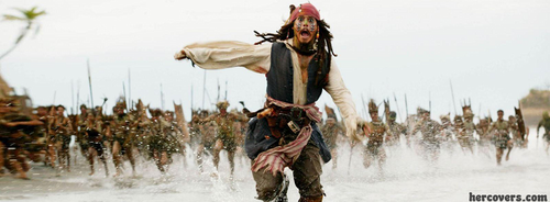 Pirates of the Caribbean wallpaper with a fountain titled Jack sparrow facebook cover for facebook timeline  HERCOVERS.COM