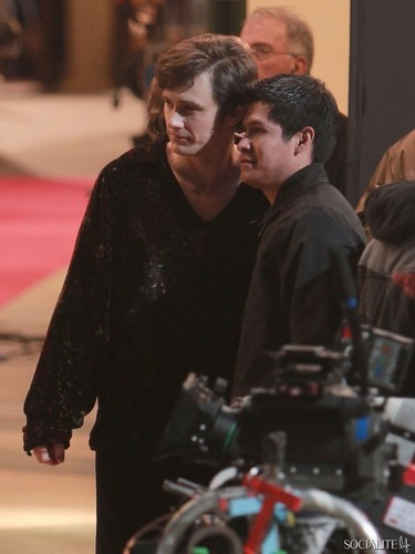 James Franco Dressed As Hugh Hefner On 'Lovelace' Set