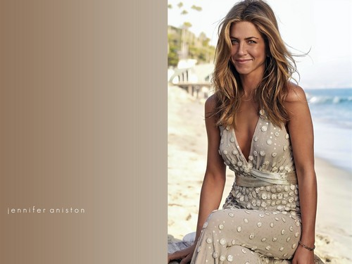 Jennifer Aniston wallpaper possibly containing a cocktail dress titled Jennifer