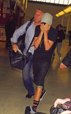 Justin at the airport :)