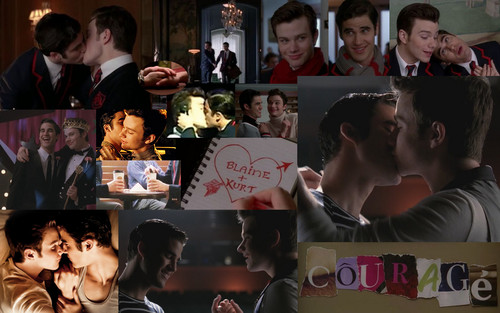 Kurt and Blaine wallpaper possibly with anime titled Klaine