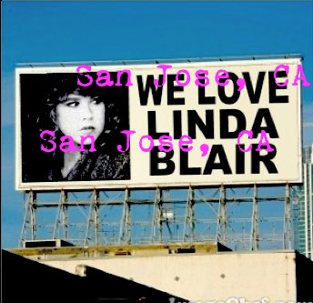 Linda Blair billboard