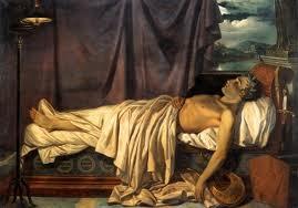 Lord Byron on his Death tempat tidur