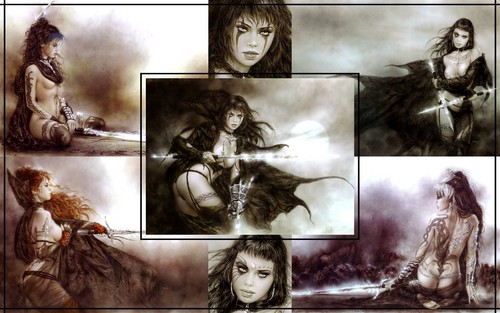 Fantasy wallpaper probably containing anime entitled Luis Royo Fantasy Girls