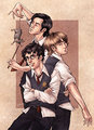Marauders  - books-male-characters fan art