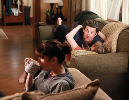 Meredith & Derek karatasi la kupamba ukuta with a living room, a drawing room, and a family room entitled Meredith & Derek 8x14