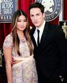 Michael Trevino & Jenna Ushkowitz at the SAG Awards red carpet - michael-trevino photo