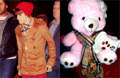 My teddy 熊 and Justin have the same scarf :)