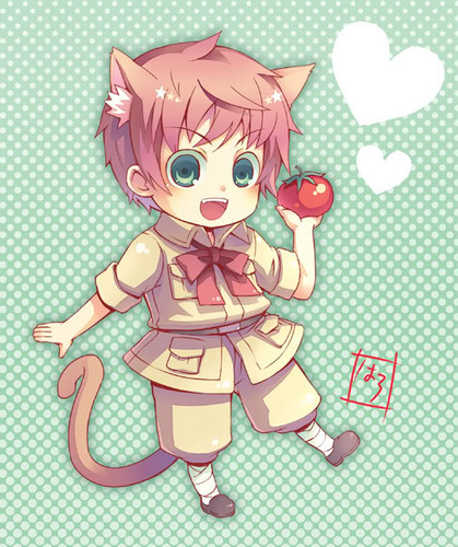 Hetalia Spain fond d'écran probably with animé entitled Neko-mato