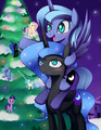 Nightmare Moon and Luna