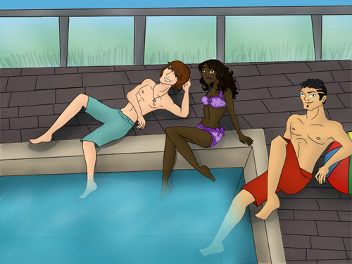 OC Pool party coloured