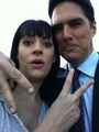 Paget and Thomas - thomas-gibson-and-paget-brewster-friendship-spot photo