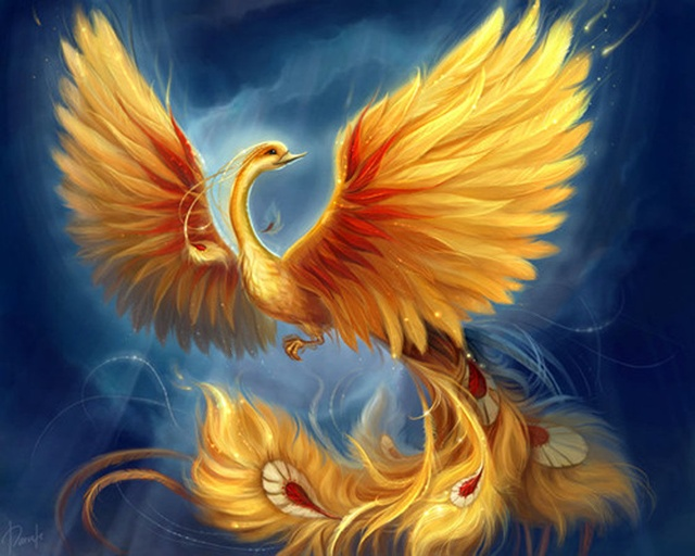Mythical creatures phoenix