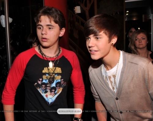 Prince Jackson and Justin Bieber