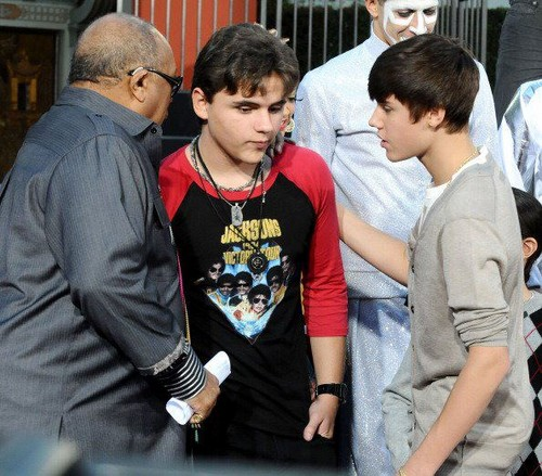 Prince with Quincy & Justin