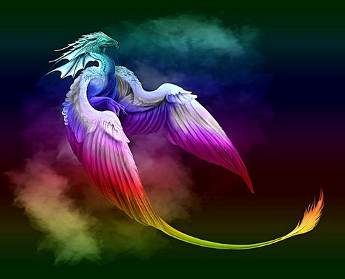 Rainbow Dragon - fantasy Photo