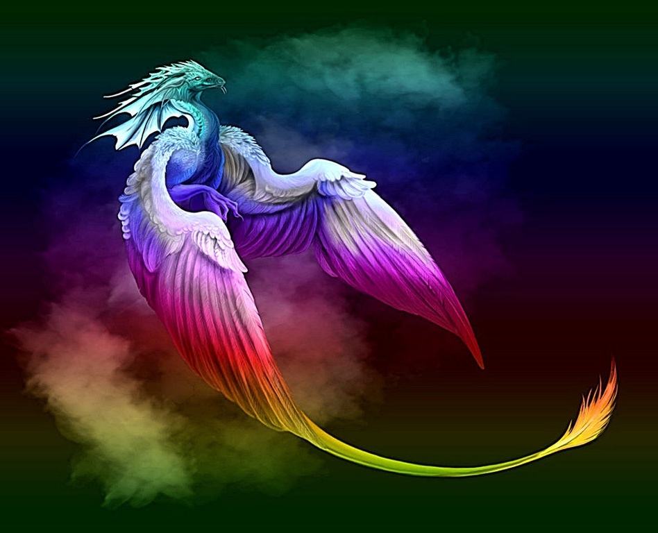 If I were a dragon ... I would look like this .. - Page 6 Rainbow-Dragon-fantasy-28667597-948-768