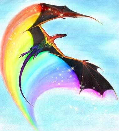 Fantasy wallpaper called Rainbow Dragon