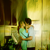 Serena and Nate fotografia probably with a drawing room, a parlor, and a living room called SN. <3