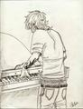 Playing the piano - the-mortal-instruments-series-fanatics fan art