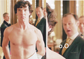 Shirtless Sherlock - sherlock screencap