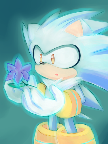 Silver the Hedgehog wallpaper entitled Silver