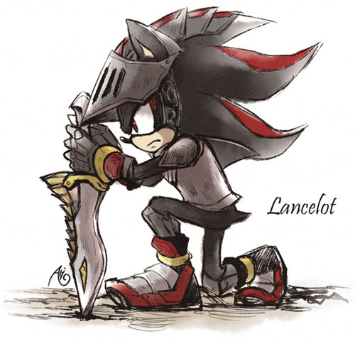 Shadow The Hedgehog kertas dinding probably with Anime titled Sir Lancelot