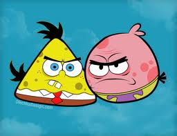 SpongeBob and Patrick as Angry Birds!