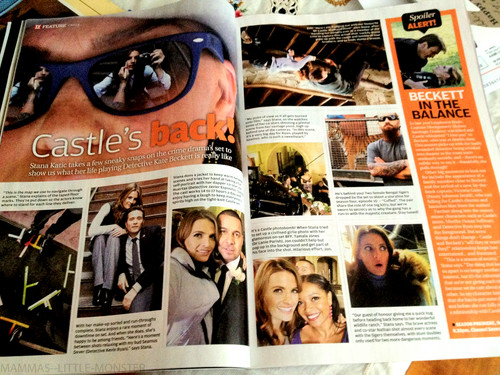 Stana Takes Some Photos on Set - TV Guide