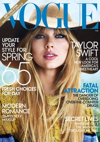 Taylor Swift wallpaper containing a portrait called Taylor Swift Vogue Cover - February 2012