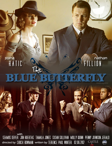 The Blue borboleta