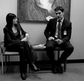 Thomas and Paget - thomas-gibson-and-paget-brewster-friendship-spot photo