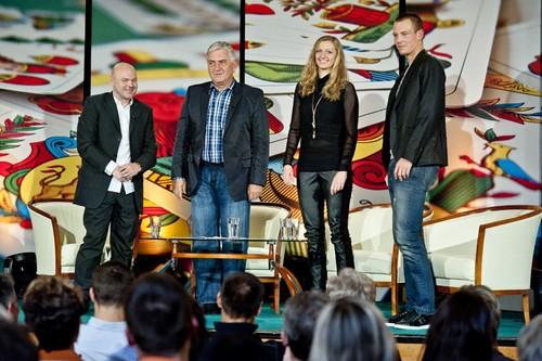 Tomas Berdych and Petra Kvitova new talk show