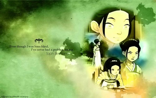 Avatar: The Last Airbender wallpaper possibly containing anime called Toph Bei Fong