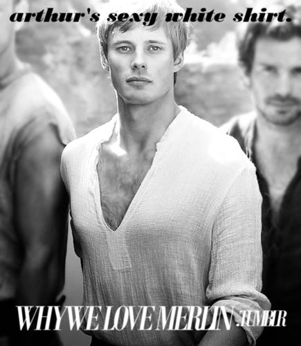 WWLM: Arthurs White overhemd, shirt of Sexiforousness