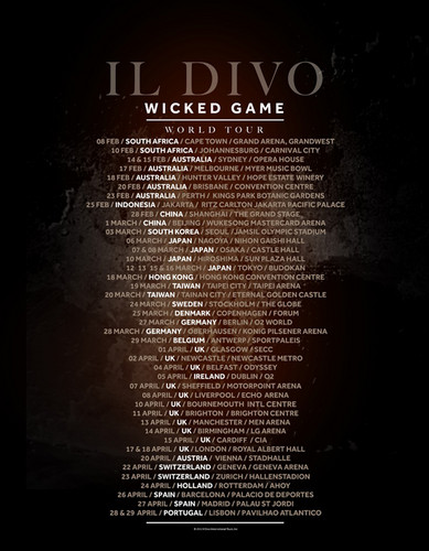 Wicked Game Tour - Final Dates Announced!