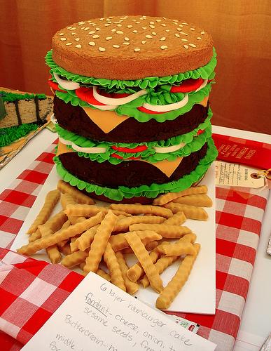 burger & potato cake !!!
