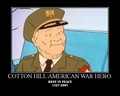 cotton ہل, لندن : vetern war hero 1927-2007