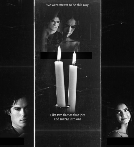 de books - damon-and-elena Fan Art