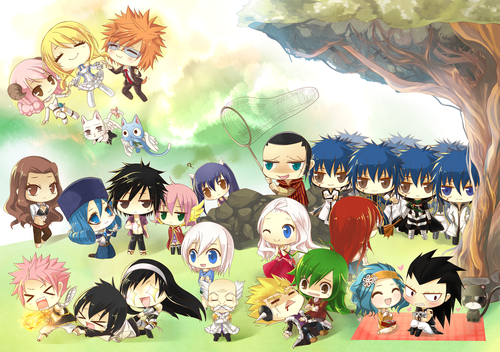 Fairy Tail wallpaper entitled fairy tail chibi!