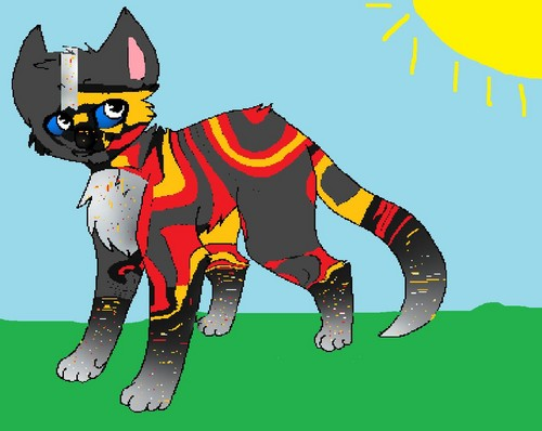Make Your Own Warrior Cat! hình nền possibly containing anime titled fireclaw